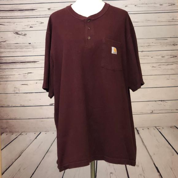 Carhartt Other - Carhartt Mens XL Henley Short Sleeve Shirt Pocket